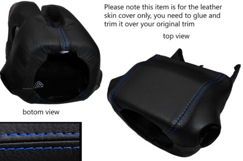BLUE STITCH STEERING SHROUD LEATHER SKIN COVER FITS MITSUBISHI L200 2006-2014