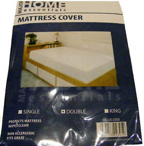 Image Is Loading DOUBLE PLASTIC MATTRESS BED WETTING SHEET PROTECTOR COVER
