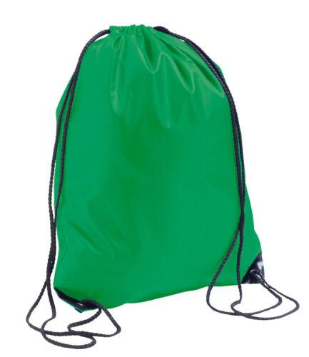 KELLY IRISH GREEN Draw String Gym Sack PE Shoe Dance Rucksack Swim Bag