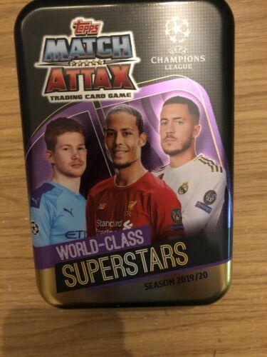Match Attax 2019//20 de Classe Mondiale Superstar Scellé MEGA TIN