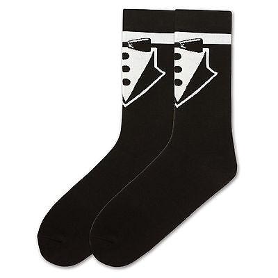K.Bell Men/'s Pair Socks Hang Loose Design Black Cotton Blend Socks NWT