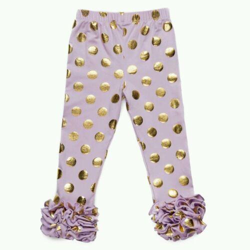 Triple Ruffles Leggings with polka dot Girl 3T//4T