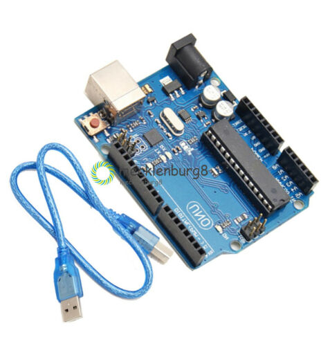 NEW UNO R3 ATmega328P ATMEGA16U2 For Arduino Compatible Cable Acrylic Case