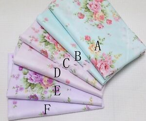 50cm-160CM-Flower-100-cotton-fabric-Quilting-Quilt-Clothes-Bedding-Sewing-DIY07