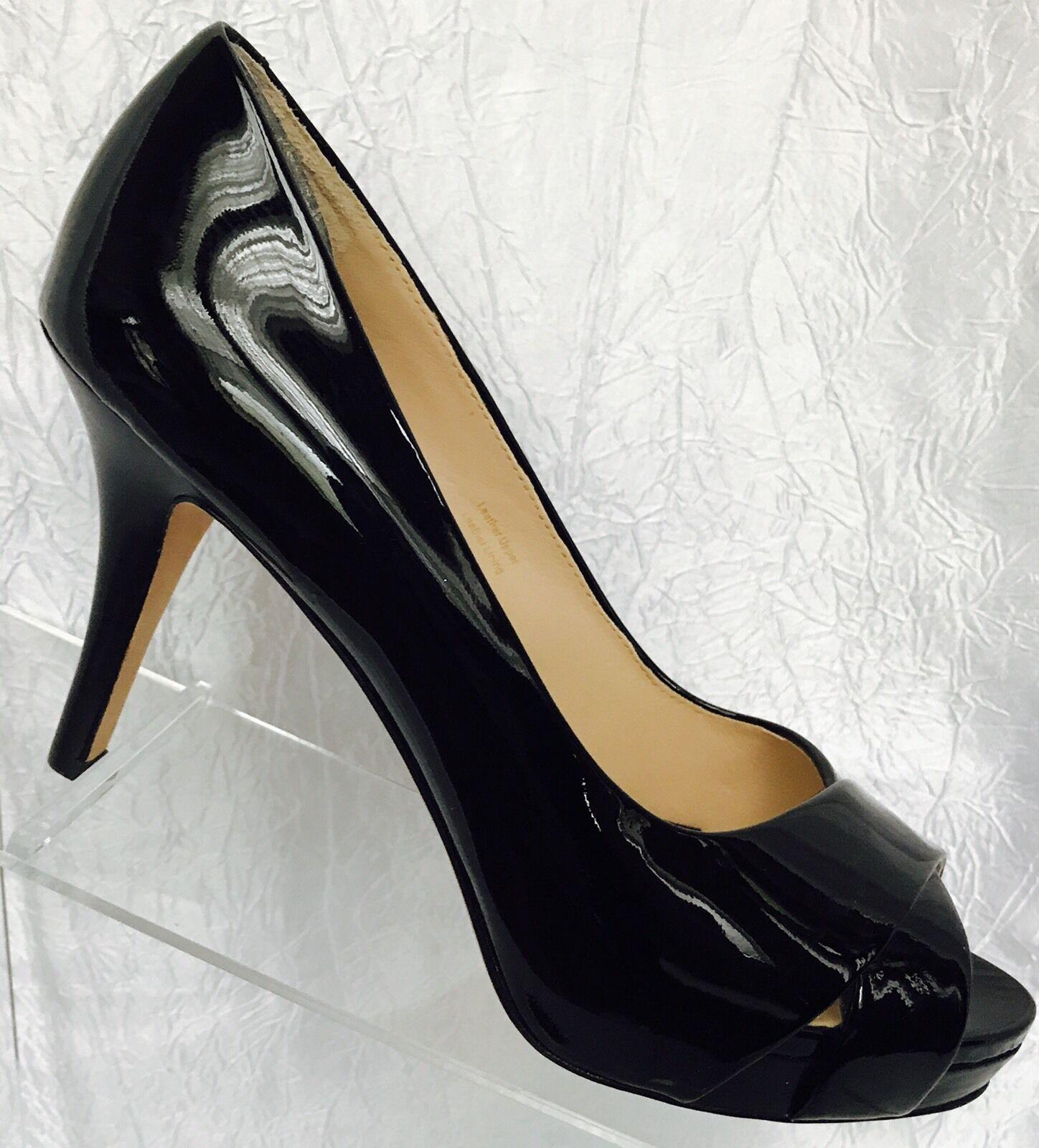 Via Spiga Zapatos De Salón Tacón Charol Charol Charol Negro Us 7.5 EU 38.5  198 6822c0