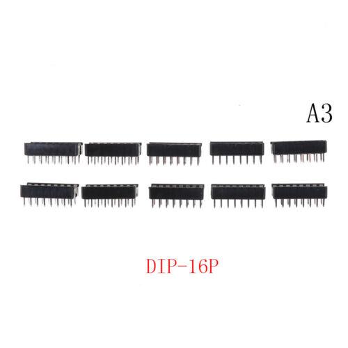 10PCS DIP IC Sockets Adaptor Solder Type Socket 6P//14P//16P//18P//20P//24XM