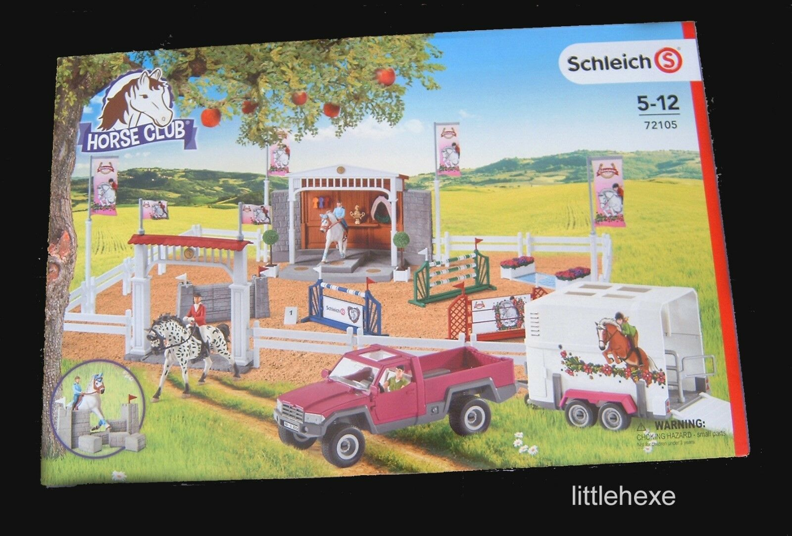 Schleich 72105 gran reitturnier con pick-up y caballos remolque nuevo/en el embalaje original