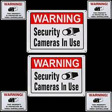METAL Home Security Camera Alarm System Warning Yard Signs+Stickers