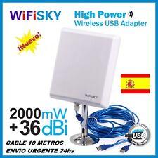 WIFISKY N810,36dbi antena Panel WIFI, 2000mw,2W, MELON N4000,NUEVO MODELO 2016