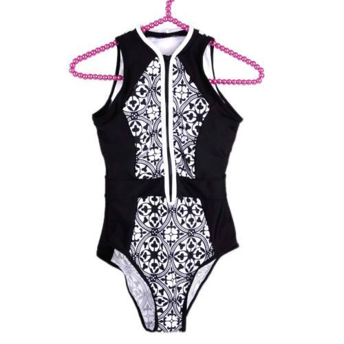 Damen Einteiler Badeanzug Bademode Baden Monokini Push-Up Wattiertes Bikini Neu