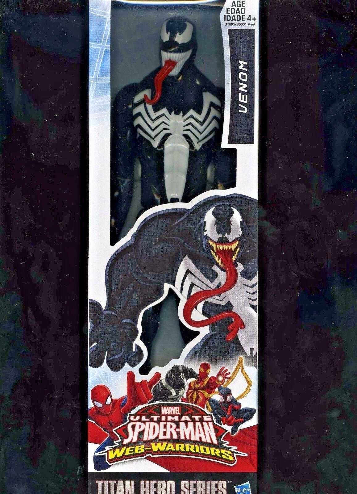 Venom (12 )  ULTIMATE SPIDER-homme (Web-Guerriers) Titan Hero Series Figure Action  juste l'acheter