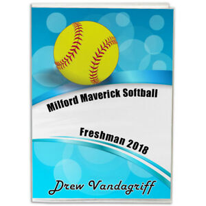 4X6-Personalized-Softball-Photo-Album-You-choose-the-background-and-text
