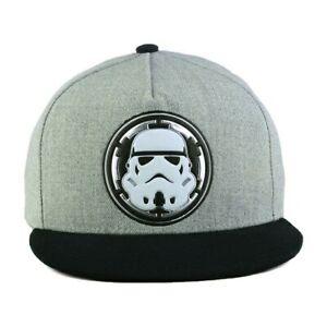 eb291056c2c8b Star Wars 2 Toned Marled Light Gray Black Storm Trooper Snapback Cap ...
