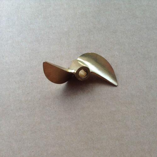 """PROPELLER 108 Bronze Prop 4mm or 3//16/"""" Shaft 2 Blade 42mm Diameter RC boat"""