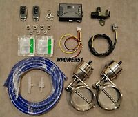 2x 76mm Exhaust Wireless Controller Vacuum Valve Mustang Cobra Gt500 F150 Yukon