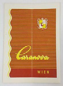 Casanova Of Dorotheergasse Vienna Wein Austria Program Playbill