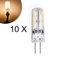 10 x G4 DC 12V/1.5W LED Stiftsockel Leuchtmittel Lampe Glühbirne Birne Warmweiss