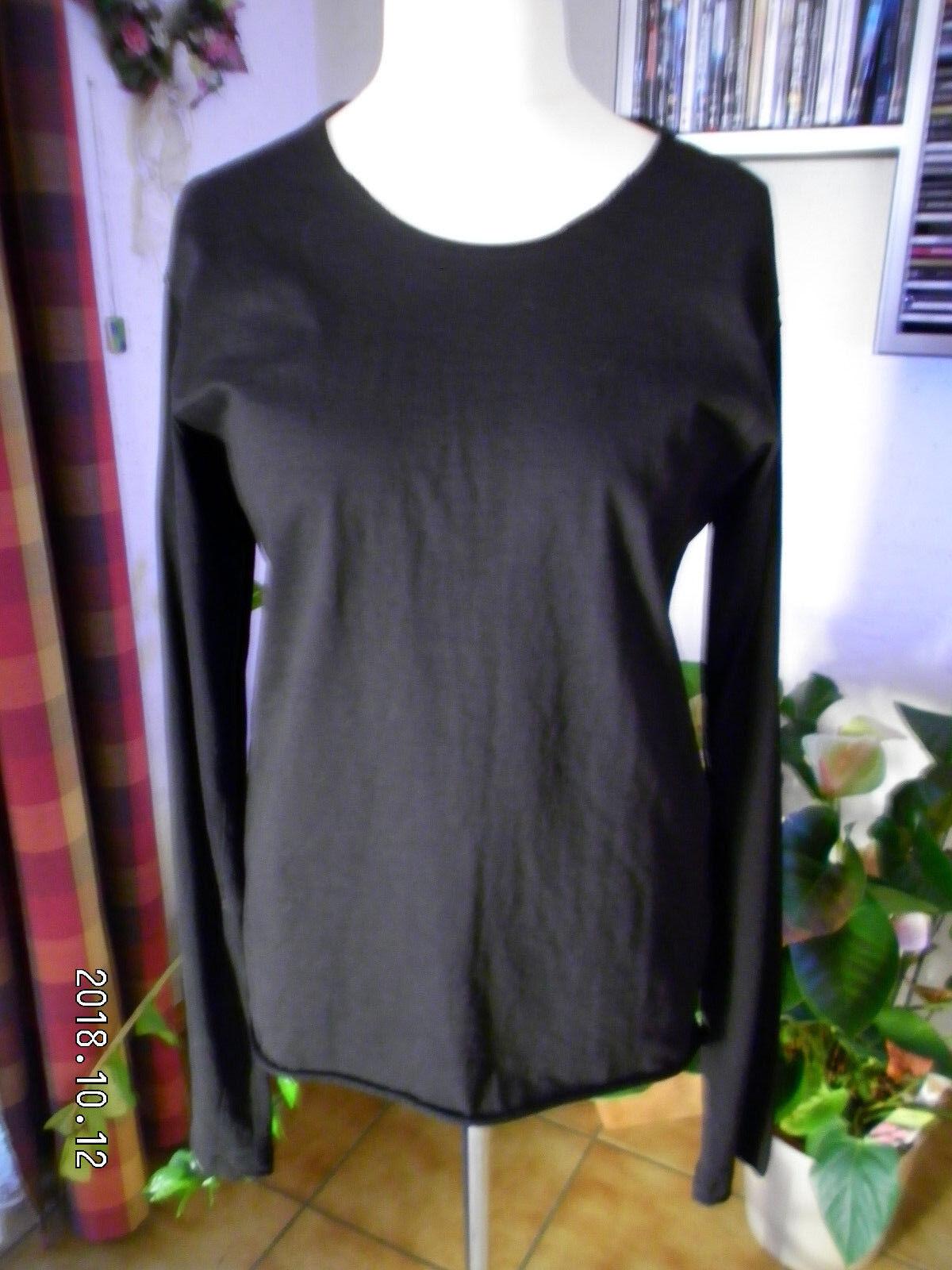 Rundholz DIP,Shirt Herrenshirt,unisex,Gr.XL,Print,Lagenlook Traumteil,2 Stoffe.