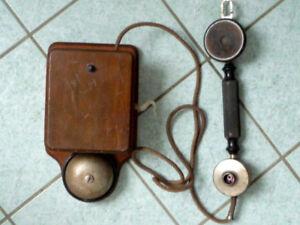 Telephone & Telegraphen SchöN Wandtelefon Verm Bayerisch Holz Mit Handapparat Klar Und Unverwechselbar