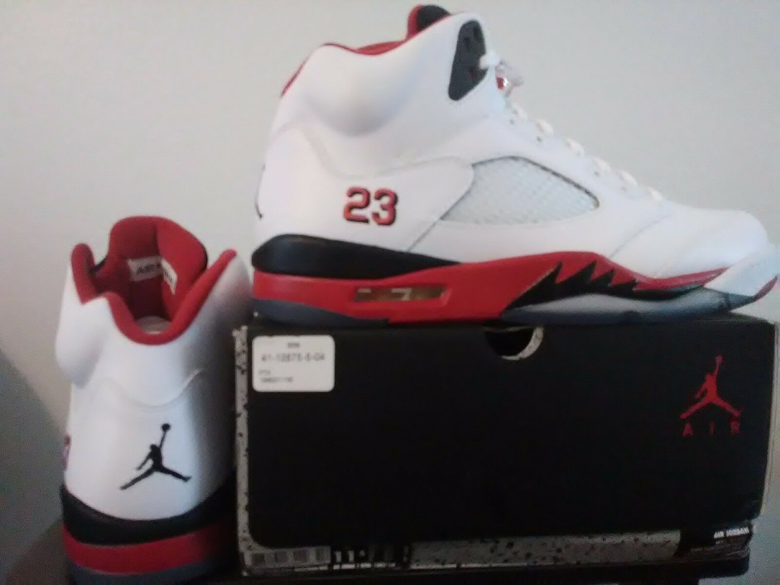 Air Jordan 5 Fire Red Low Retro OG 2013 AJ V Nike Mens Shoe 136027-120 Size 11.5