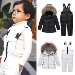 b6dcf5259d06 Russian Winter Down Suit Super Warm Kids Boys Girls Duck Down Jacket ...