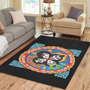 Hot Selling Mat Custom Rock Kiss Band Rugs Area Rug Decorative Floor Rug Carpet
