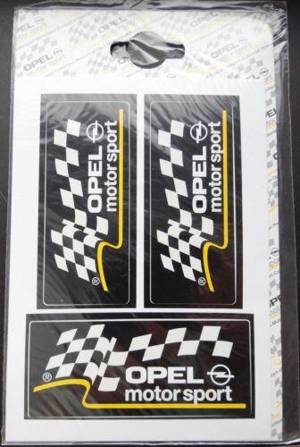Aufkleber OPEL Motorsport 3 Stück Logo Set StickerOPC Oldtimer Manta Ascona