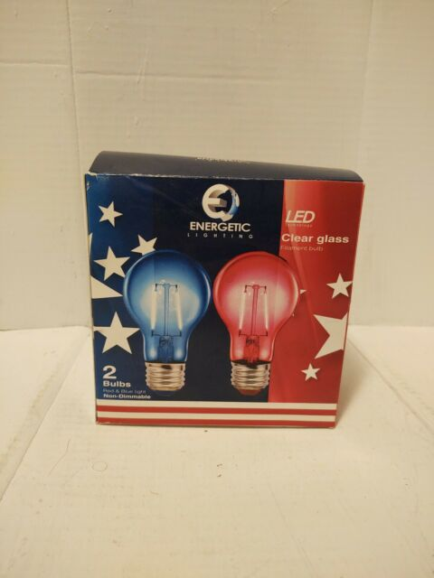 ENERGETIC 2-Watt 120-Volt Red and Blue Clear LEDs w//Standard Base Patriotic