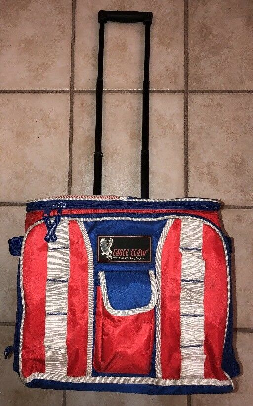 EAGLE CLAW SOFT SIDE HOT COLD Rolling COOLER w Extendable Handle