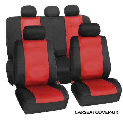 Full Set of Luxury RED /& BLACK LEATHERETTE Car Seat Covers Renault Captur