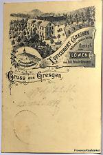 CPA Precurseur ALLEMAGNE GRUSS AUS GRESGEN   1899  voir scan ht def  Lae478