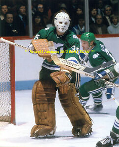 af90ad389 Details about JOHN GARRETT In ACTION In NET 8x10 Photo HARTFORD WHALERS  Star GOALIE 1979-82~