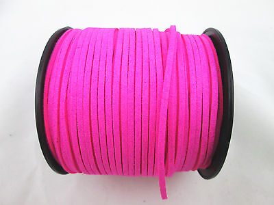 New Faux Suede Flat Leather Cord Lace - String 3mm (U Choose Color & Size)