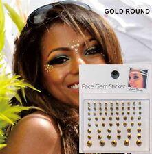 Gold Diamonds Face Gems Stick on Face Jewels Body Glitter Crystals Rhinestones
