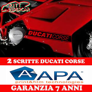 2-ADESIVI-Stickers-Adesivo-DUCATI-CORSE-fiancata-848-Panigale-1199-1098-NERO