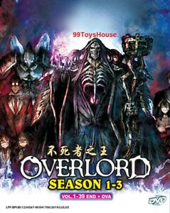 Details about DVD Anime Overlord Season 1+2+3 Complete Series (1-39 End +  OVA*) ENGLISH DUB