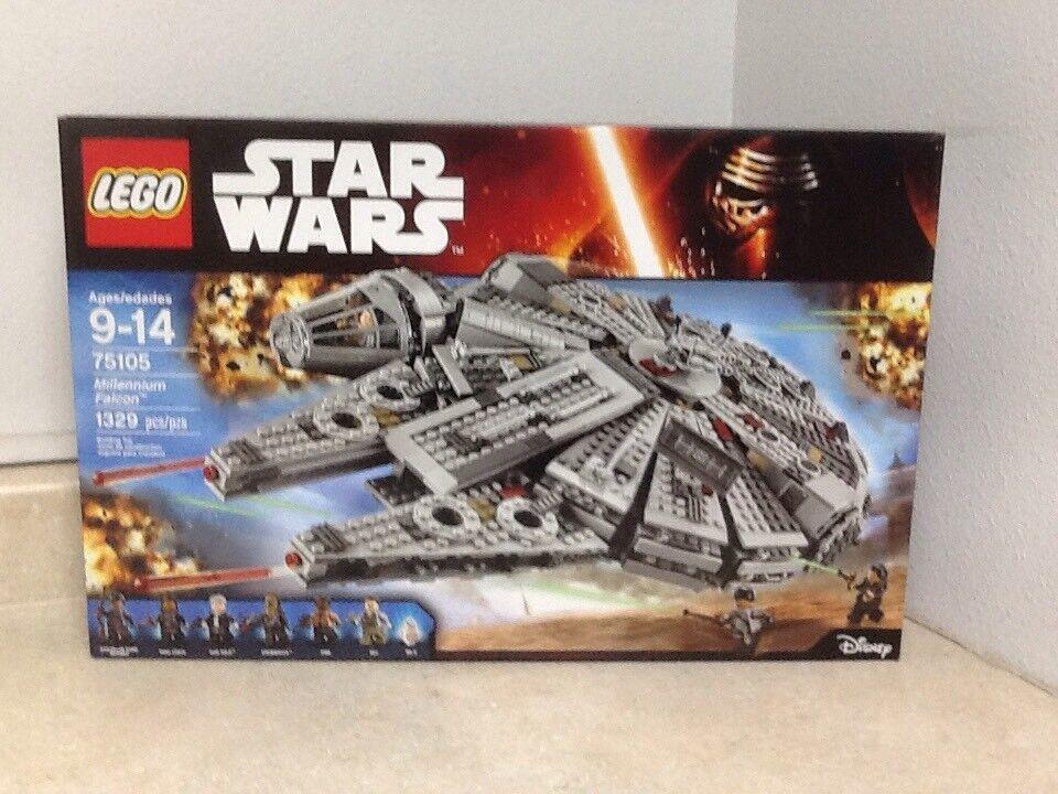 Lego Star Wars 75105 Halcón Milenario con 7 Minifiguras
