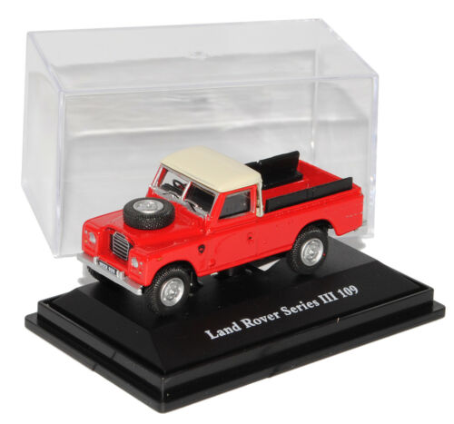 Land Rover Defender Serie III 109 Rot Pick-Up 1//72 Cararama Modell Auto mit od..