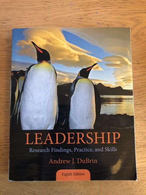 Leadership   Andrew DuBrin   8th Edition   PB 2014 Cengage