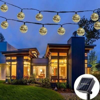 Led Moroccan Fairy String Lights Lantern Solar Powered Lamps Garden Outdoor Uk Ebay