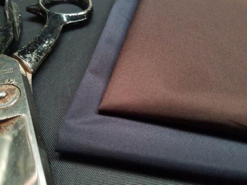 Dark Brown /& Navy//Gris oscuro-tejido de microfibra Impermeable 5 OZ * 155cm de ancho