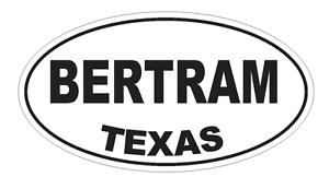 Bertram Texas Oval Bumper Sticker or Helmet Sticker D3201 Euro Oval