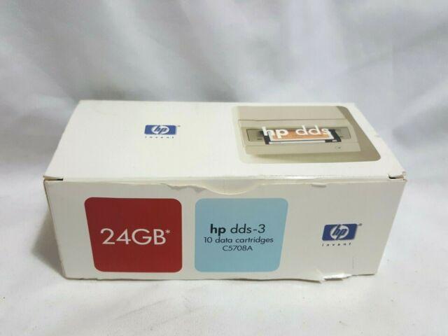 NEW 10 X HP DDS-3 24GB Data Cartridges Backup Tape Carts C5708A 24 gb dds3 box