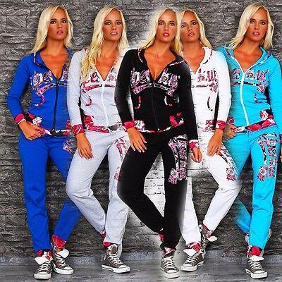 10549 Damen Jogginganzug Jacke Hose Sportanzug Sporthose Fitness Trainingsanzug
