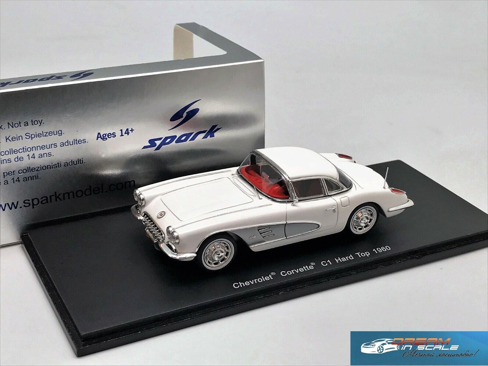 Chevrolet Corvette C1 Hard Top 1960 SPARK S2967 Resin 1 43