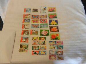 Lot-of-38-Equatorial-Guinea-Stamps-Butterflies-Flowers-and-more