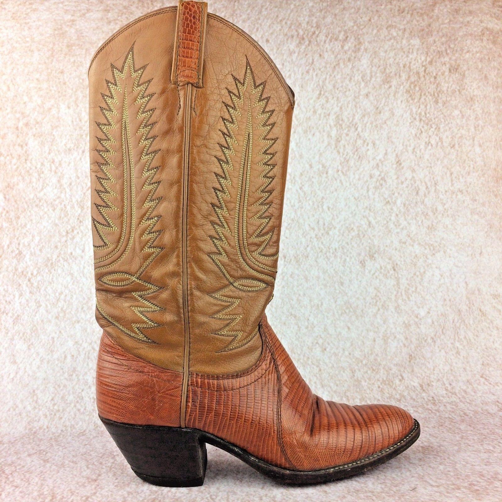 Dan Post mujeres mujeres Post talisman de cuero de lagarto teju Western cowboy boots size 10 8e58a3