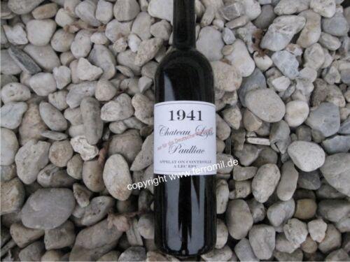 Wehrmacht Wein Etiketten 1941 4 Stück LW WW2 WKI WKII Wine Label WH