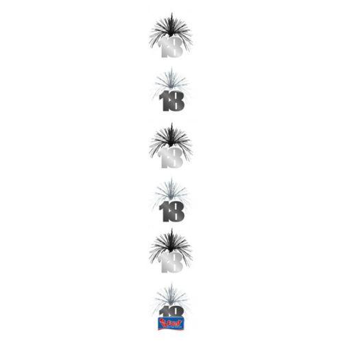 Cascade Deckenhänger Geburtstag rose silber Hänge-Deko 18 30 40 50 60 Jahre