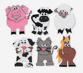 farm animals magnet kit craft complete set of 6 cow pig